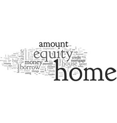Home equity vector