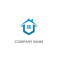 Home window realty logo vector
