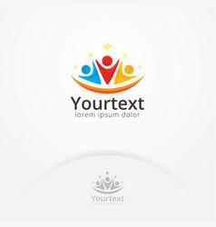 human social logo vector image