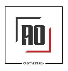 Initial letter ao logo template design vector