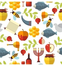 Jewish New Year Rosh Hashanah Pattern vector image