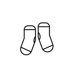 kid socks icon vector image