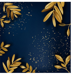Laurel leaves and dust banner with copy space vector