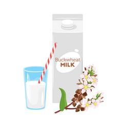 milk icon on white background vector image