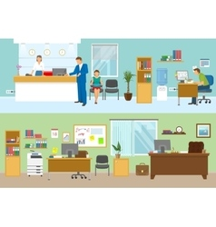 Modern Office Compositions vector