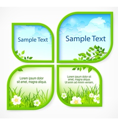 Nature spring banners vector