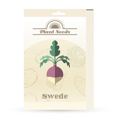 Pack swede seeds vector