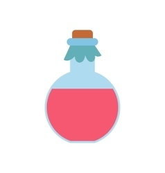 Pink spa oil flat icon vector image