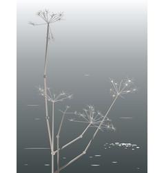 Plant on shore lake vector