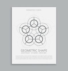 Sared spiritual geometric shape vector