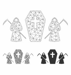 Scytheman coffin guard mesh network model vector