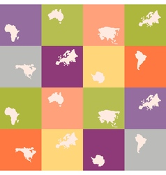 seamless background with continents vector image