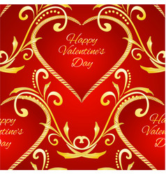 seamless texture happy valentine day heart vector image