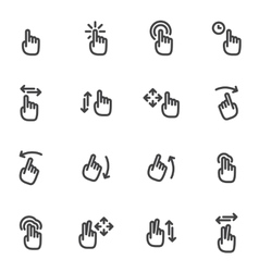 Set of icons and logos hands fingers vector