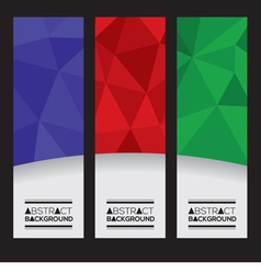 Set Of Three Colorful Geometric Vertical Banners vector