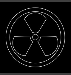 Sign radioactive the white path icon vector