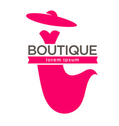 Stylish boutique logo vector