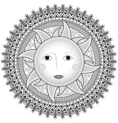 sun in Russian style vector image