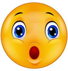 Surprised emoticon smiley vector image vector image
