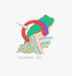 taejongdae park in busan south korea vector image