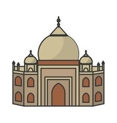 Taj mahal architecture vector
