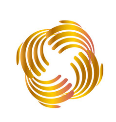 Teamwork gold abstract hands icon vector