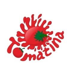 Tomatina icon cartoon style vector image