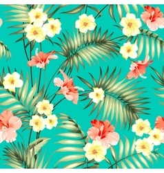 Tropical fabric design vector