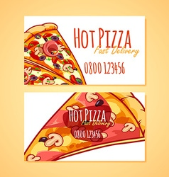 Two business card template for Pizza Delivery or vector