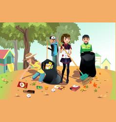 volunteer kids vector image