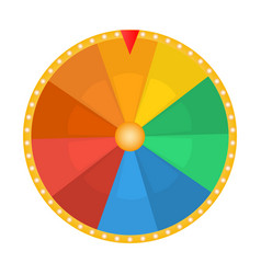 Wheel fortune for prize draw on a white vector
