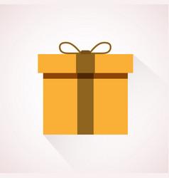 yellow flat present box concept vector image