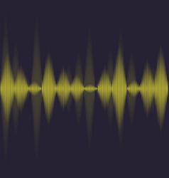 yellow voice waves vector image