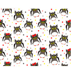 adult owls with dotted backgroun vector image