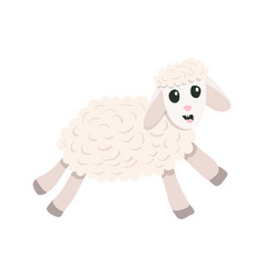 cartoon cute sheep vector image vector image