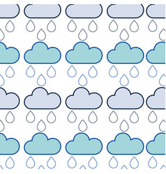cloud with running to natural environment care vector image vector image