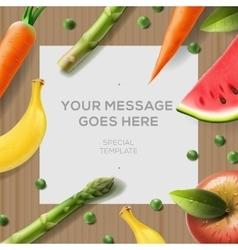 Cookbook background food background vector image