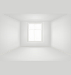 modern empty living room with white walls vector image