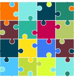 Puzzle seamless pattern Teamwork concept vector image