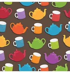 teapot pattern vector image vector image