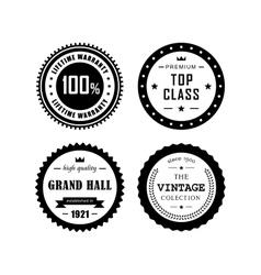 Vintage badges 4 vector image vector image