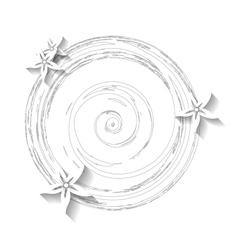 White grunge floral background vector image vector image