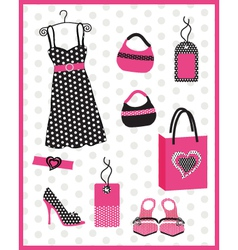 dress card with dots vector image vector image
