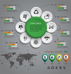 Ecology infographic vector image vector image