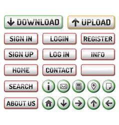 Internet Web 2 icon button vector image
