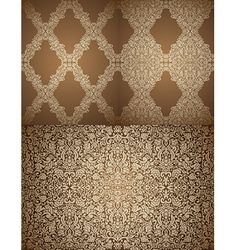 Set of seamless Damask wallpapers vector image