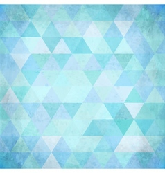Textured vintage pink triangles background vector image