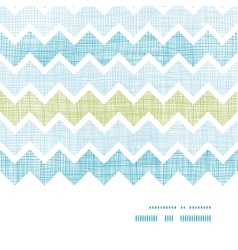Fabric textured chevron stripes horizontal frame vector image vector image