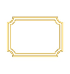 Gold frame beautiful simple golden white vector