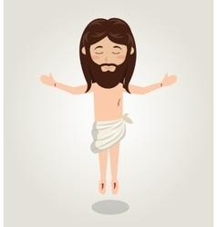 Jesus christ ascension design vector image vector image